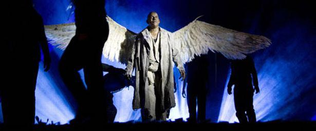 Omar Ibrahim as Skellig in theopera